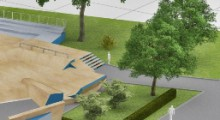 Проект скейтпарка с ландшафтным дизайном