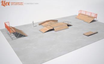 Пример скейт-парка для скейта, BMX и самоката