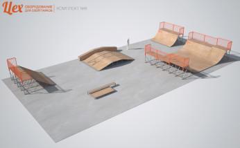 Эскиз скейт-парка для скейта и BMX