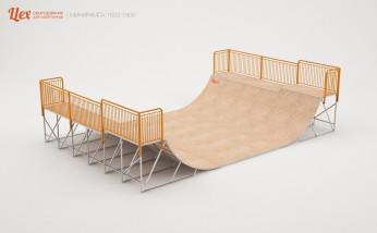 Минирампа железная, разборная для скейта, BMX, самоката