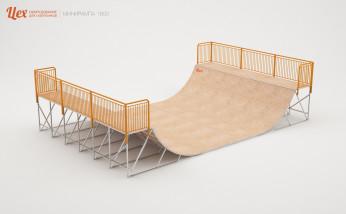 Минирампа разборная, металлическая для скейта и BMX