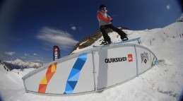 Джиб фигуры для сноупарка на лагере QUIKSILVER NEWSTAR INVITATIONAL 2014