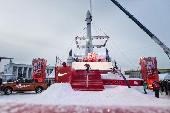 Джиб оборудование для контеста Nike Helipark