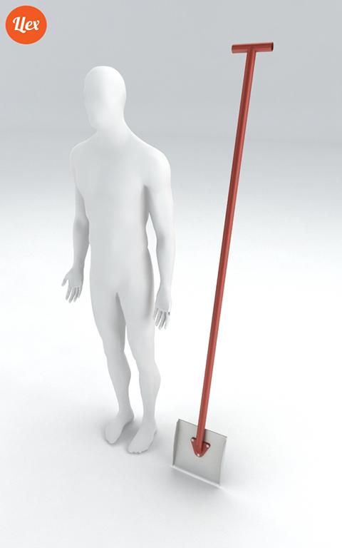 Оборудование для сноупарков. Обрезная лопата. Инструмент шейпера