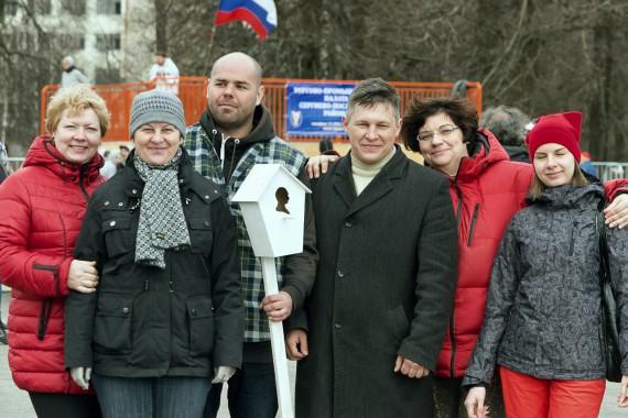 Директор парка Скитские пруды и коллеги