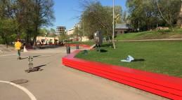 Реконструкция скейтпарка в Парке Горького