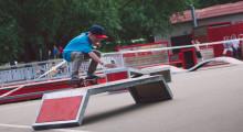 Соревнования по скейту в Парке Горького