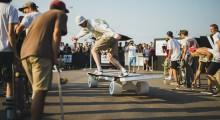 Миша Мажега в скейтпарке, bs tail