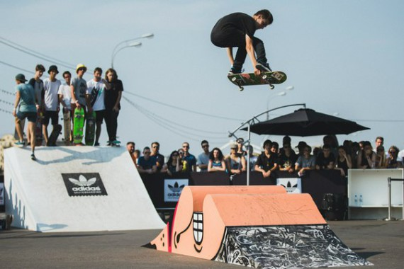 Контест в скейтпарке на лучший трюк