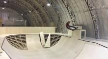 Крытый скейтпарк в Академии Экстримальных Видов спорта