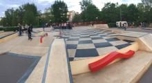 Москва, Парк Горького, скейт парк VANS OFF THE WALL