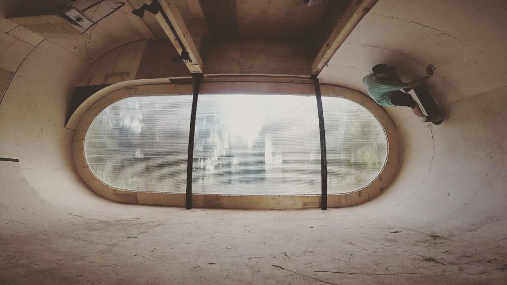 Минирампа в скейтдоме