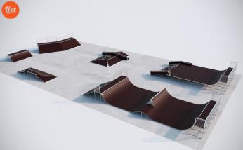 Скейтпарк металлический