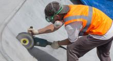 Нарезка швов в скейт-парке