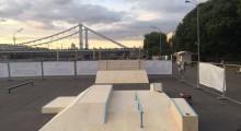 Деревянный скейт-парк